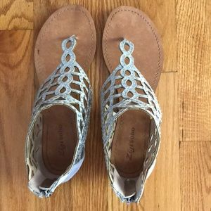 Silver Sandals from DSW